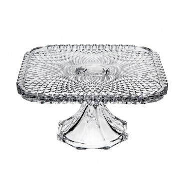 Belmont 8″ Clear Footed Cake Plate