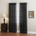 Doli Black Grommet Sheer Panels (Set of 2)