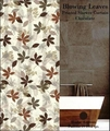 Blowing Leaves Shower Curtain Set (Chocolate Brown)