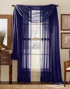 Navy Blue Sheer Panel