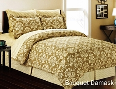 Bouquet Damask Complete Bed in a Bag Set