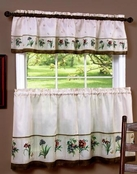 Botanical Kitchen Curtain Set