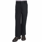 Boy's Flat Front Pants (Black)