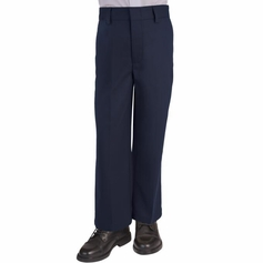 Boy's Flat Front Pants (Navy)