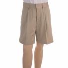 Boy's Pleated Shorts (Khaki)