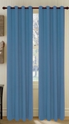 Broadway Textured Grommet Curtain (Blue)