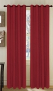 Broadway Textured Grommet Curtain (Burgundy)
