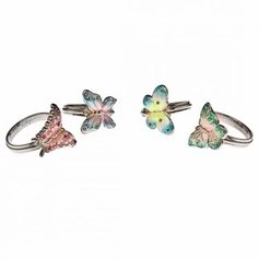 Set of 4 Butterfly Napkin Rings