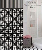 Callula Printed Shower Curtain (Black)