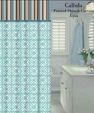Callula Fabric Shower Curtain (Aqua)