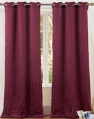 Cannes Crushed Satin Grommet Curtain (Burgungy)