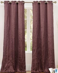 Cannes Crushed Satin Grommet Curtain (Chocolate Brown)
