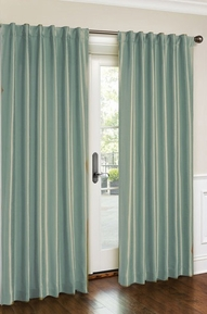 Cara Faux Silk Panel (Aqua)