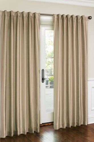 Cara Faux Silk Panel (Beige)