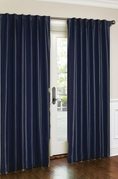 Cara Faux Silk Panel (Navy)