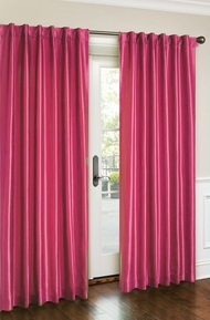 Cara Faux Silk Panel (Neon Pink)
