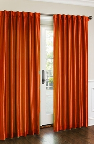 Cara Faux Silk Panel (Orange)