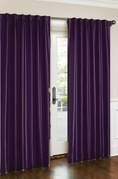 Cara Faux Silk Panel (Purple)