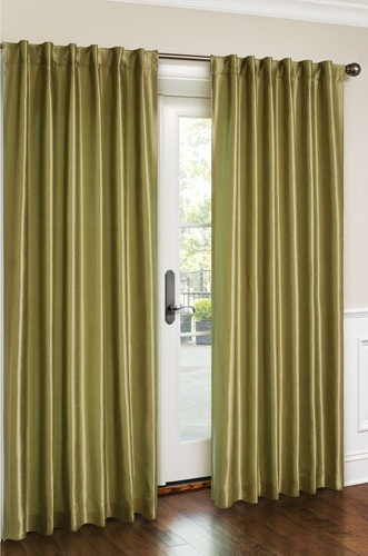 Cara Faux Silk Panel (Sage)