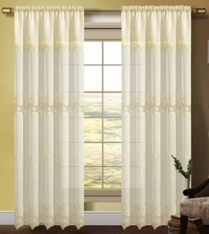 Careen Macrame Accented Curtain (Beige)