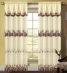 Careen Macrame Accented Curtain (Burgundy)
