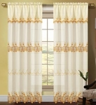Careen Macrame Accented Curtain (Gold)