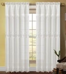 Careen Macrame Accented Curtain (White)