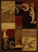 Catalina Modern Abstract  Feather Squares Area Rug