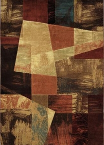 Catalina Modern Abstract  Multi Squares 8x11 Area Rug