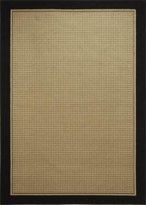 Catalina Modern Check Area Rug (Beige/Black)