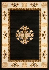 Center Key Premium 5x8 Area Rug (Black)