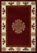 Center Key Premium 5x8 Area Rug (Red)