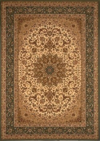 Center Scroll Regency 4x6 Area Rug (Green)