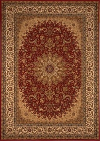 Center Scroll Regency 4x6 Area Rug (Red)
