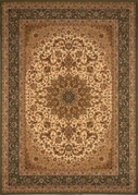 Center Scroll Regency 5x8 Area Rug (Green)