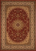 Center Scroll Regency 8x11 Area Rug (Red)