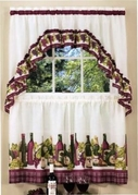 Chardonnay  Kitchen Curtain Set