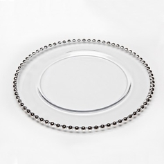 """Chesterfield 13"""" Platinum Charger Plate"""