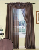 Chocolate Silky Stripe Sheer Panel
