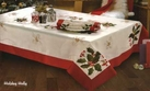 Christmas Poinsettia Tablecloth