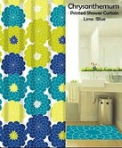 Chrysanthemum Printed Shower Curtain