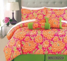 Closisonne Floral 11 Piece Complete Bed in a Bag Set