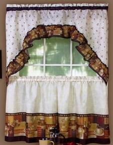 Coffee Kitchen Curtain Set [Available May 1st]