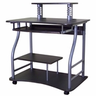 Contemporary Computer Desk (Black)