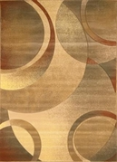 Contemporary Evolution Cream Area Rug 8x11