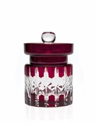 Criss Cross Ruby Jam Jar