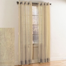 Crystal Crushed Grommet Sheer Panel (Beige)