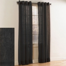 Crystal Crushed Grommet Sheer Panel (Black)