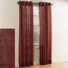 Crystal Crushed Grommet Sheer Panel (Burgundy)