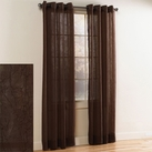 Crystal Crushed Grommet Sheer Panel (Chocolate)
